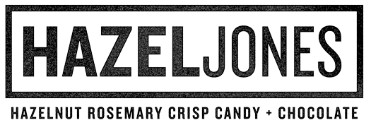 hazel jones hazelnut rosemary crisp candy with chocolate gluten free and vegan